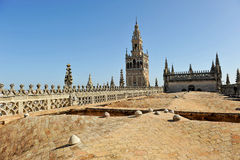 Visit to the decks of the cathedral of Seville, Andalusia, Spain Stock Image