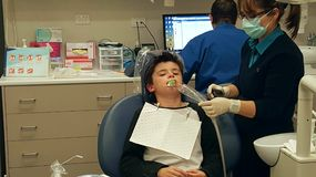 A visit to the dentist Stock Photography