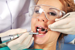 Visit to dentist Stock Image