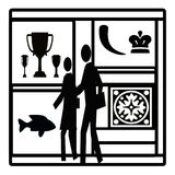 Visit to a gallery royalty free illustration
