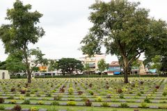 Round trip Thailand July 2017 - heroes cementery allied combat f Stock Photo