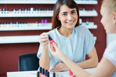 Visit to manicurist Royalty Free Stock Photo