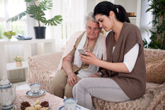Visit to my grandmother Royalty Free Stock Photography