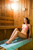 Visit to sauna Stock Photos