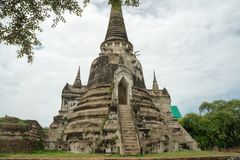 Round trip thailand july 2017 - Ayutthaya - Wat Phra Sri Sanpet stock image