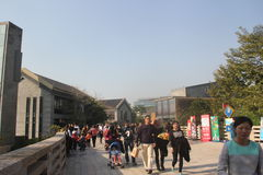 Visit the town of Tourists in shenzhen joy coast. Whenever the holidays, many of the tourists to visit the ancient town with friends and family in shenzhen joy Stock Photo