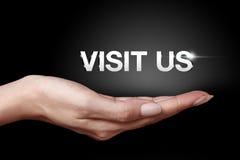 Visit us Stock Image