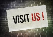 Visit us Royalty Free Stock Photo