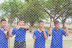Visit youth and do activities together in dept of corrections Juvenile Detention center. Nakhonsawan Thailand, 5 Apirl 2017: visit youth and do activities royalty free stock image