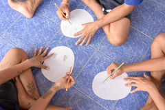 Visit youth and do activities together in dept of corrections Juvenile Detention center. Nakhonsawan Thailand, 5 Apirl 2017: visit youth and do activities stock photography