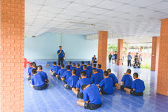 Visit youth and do activities together in dept of corrections Juvenile Detention center. Nakhonsawan Thailand, 5 Apirl 2017: visit youth and do activities royalty free stock images