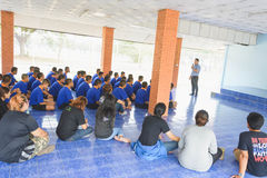 Visit youth and do activities together in dept of corrections Juvenile Detention center. Nakhonsawan Thailand, 5 Apirl 2017: visit youth and do activities stock photos