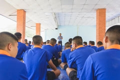 Visit youth and do activities together in dept of corrections Juvenile Detention center. Nakhonsawan Thailand, 5 Apirl 2017: visit youth and do activities royalty free stock photo