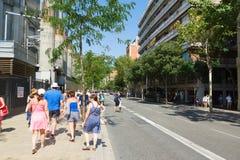Visita à cidade de Barcelona Imagens de Stock Royalty Free