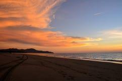 Visita à praia Imagens de Stock