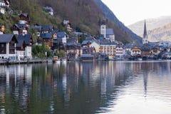 Visita à vila de Hallstatt Imagem de Stock