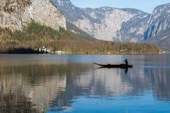 Visita à vila de Hallstatt Imagem de Stock Royalty Free