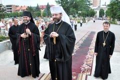 Visita al _3 de Sviatoslav Shevchuk de la iglesia del capítulo de Chortkiv Imagen de archivo libre de regalías