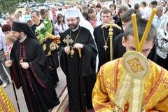 Visita al _7 de Sviatoslav Shevchuk de la iglesia del capítulo de Chortkiv Foto de archivo libre de regalías