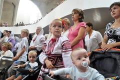 Visita al _13 de Sviatoslav Shevchuk de la iglesia del capítulo de Chortkiv Foto de archivo libre de regalías