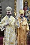 Visita al _22 de Sviatoslav Shevchuk de la iglesia del capítulo de Chortkiv Imagenes de archivo