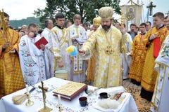 Visita al _28 de Sviatoslav Shevchuk de la iglesia del capítulo de Chortkiv Fotografía de archivo