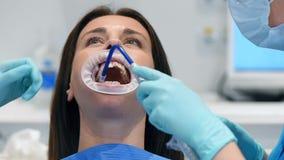 Visita al dentista Office stock footage