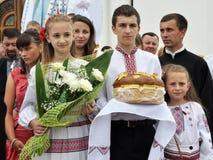 Visita al _4 di Sviatoslav Shevchuk della chiesa di capitolo di Chortkiv Fotografia Stock Libera da Diritti