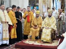 Visita al _10 di Sviatoslav Shevchuk della chiesa di capitolo di Chortkiv Fotografia Stock