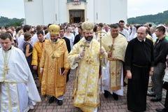 Visita al _25 di Sviatoslav Shevchuk della chiesa di capitolo di Chortkiv Fotografie Stock Libere da Diritti