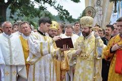 Visita al _26 di Sviatoslav Shevchuk della chiesa di capitolo di Chortkiv Fotografie Stock Libere da Diritti