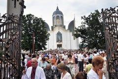Visita al _29 di Sviatoslav Shevchuk della chiesa di capitolo di Chortkiv Fotografie Stock