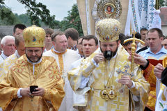 Visita al _27 di Sviatoslav Shevchuk della chiesa di capitolo di Chortkiv Fotografia Stock