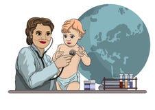 Visita al doctor ilustración del vector