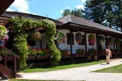 Visita al monastero Sinca Veche, Fagaras Fotografie Stock