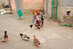 Visita al parque zoológico Foto de archivo