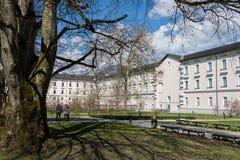 Visita all'abbazia di Admont in Stiria immagini stock