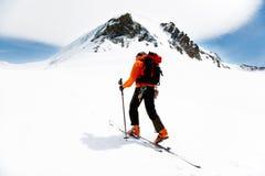 Visita alpina Fotografia Stock Libera da Diritti