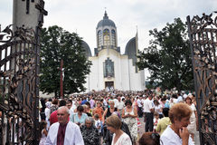Visita ao _29 de Sviatoslav Shevchuk da igreja do capítulo de Chortkiv Fotos de Stock