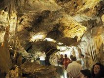 Visita da caverna em Mônaco Fotos de Stock Royalty Free