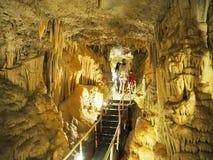 Visita da caverna em Mônaco Foto de Stock Royalty Free