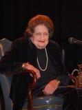 Visita de Helen Thomas Ann Arbor - un tiro más cercano Foto de archivo