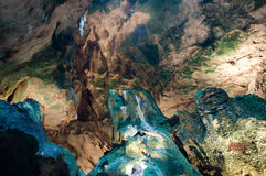 Visita de la cueva de Hato en Curaçao Imagen de archivo libre de regalías