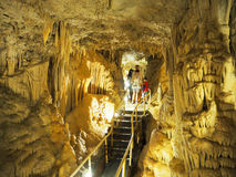 Visita de la cueva en Mónaco foto de archivo libre de regalías