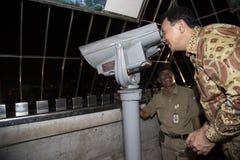 Visita de la noche de Monas en Jakarta Imágenes de archivo libres de regalías