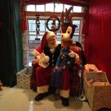 Visita de Papá Noel Fotografía de archivo