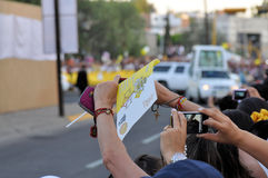 Visita de papa Benedicto XVI a México foto de archivo