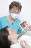 Visita del dentista Fotos de archivo libres de regalías