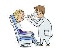 Visita del dentista Imagen de archivo