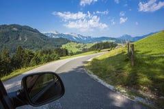 Visita delle alpi europee Immagine Stock